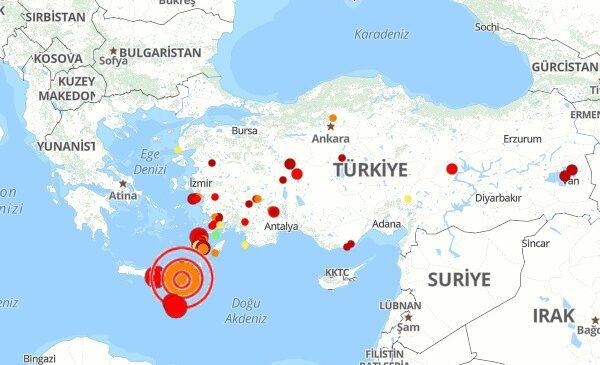Girit deprem! Girit Adası son dakika deprem (İzmir)